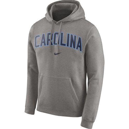 Men's Nike North Carolina Tar Heels Club Arch Hooded Sweatshirt (Dark Heather)
