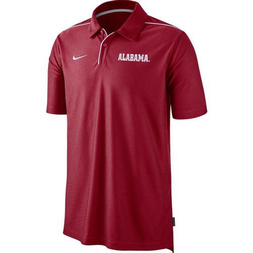 Men's Nike Alabama Crimson Tide Dri-FIT Team Issue Polo (Crimson/White)