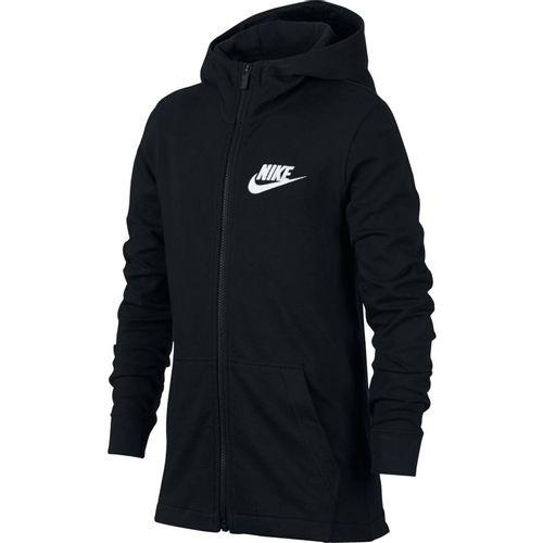 Boy's Nike Sportswear Fleece Full-Zip Sweatshirt (Black/Black)