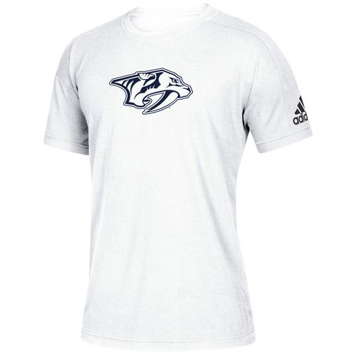 Men's Adidas Nashville Predators Tonal Logo T-Shirt (White)