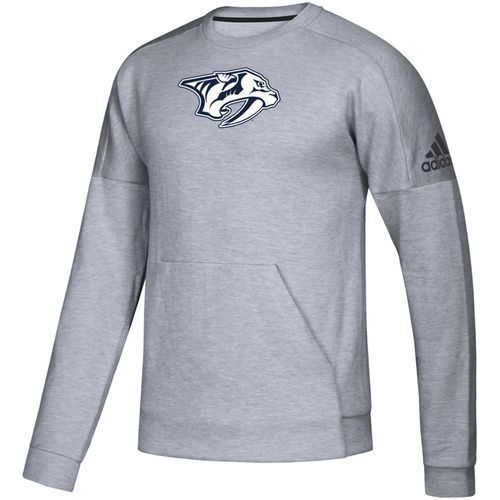 Men's Adidas Nashville Predators Tonal Logo Crew Long Sleeve Shirt (Grey)