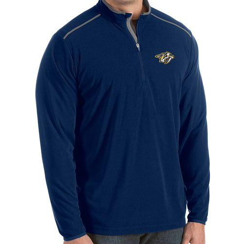 Men's Antigua Nashville Predators Glacier Primary Tall 1/4 Zip-Up (Navy)
