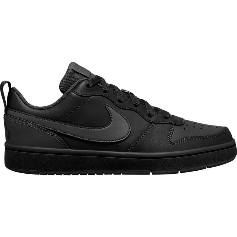 Grade School Nike Court Borough Low 2 (Black/Black)