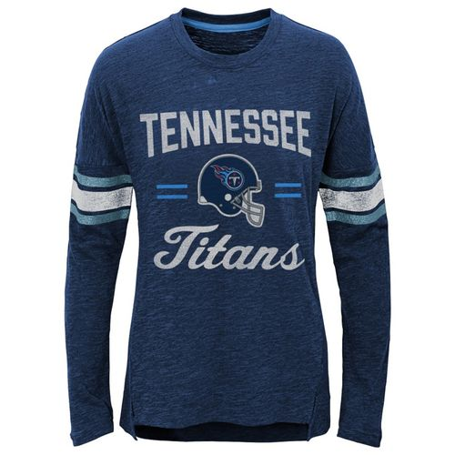 Girl's Tennessee Titans Long Sleeve Shirt (Navy)