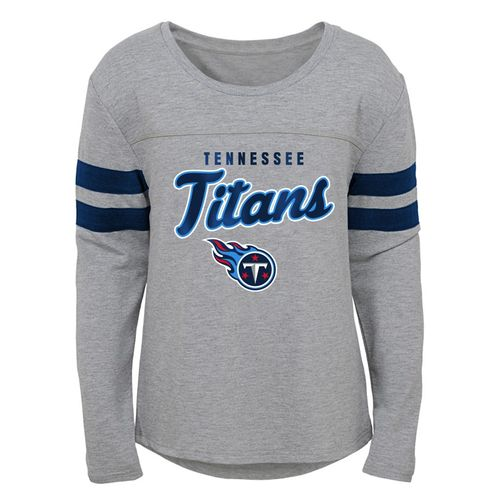 Girl's Tennessee Titans Armor Long Sleeve Shirt (Heather)