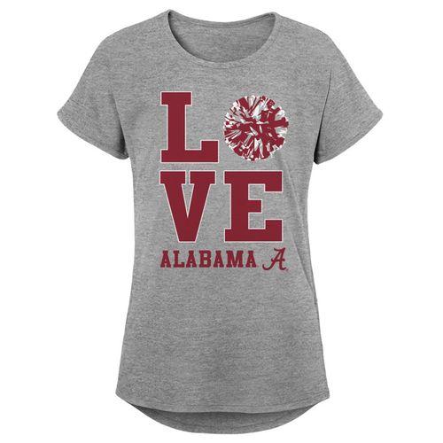 Girl's Alabama Crimson Tide Pom Pom T-Shirt (Heather)