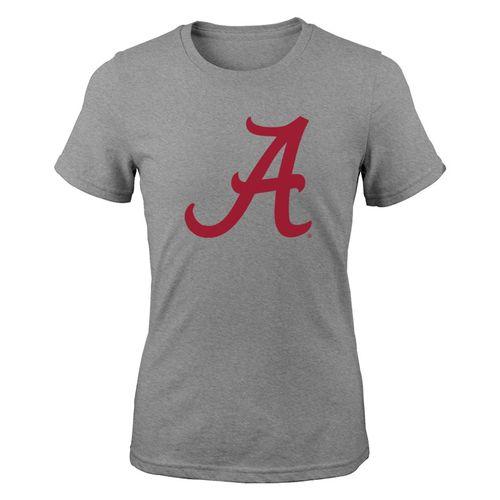 Girl's Alabama Crimson Tide Team Logo T-Shirt (Heather)