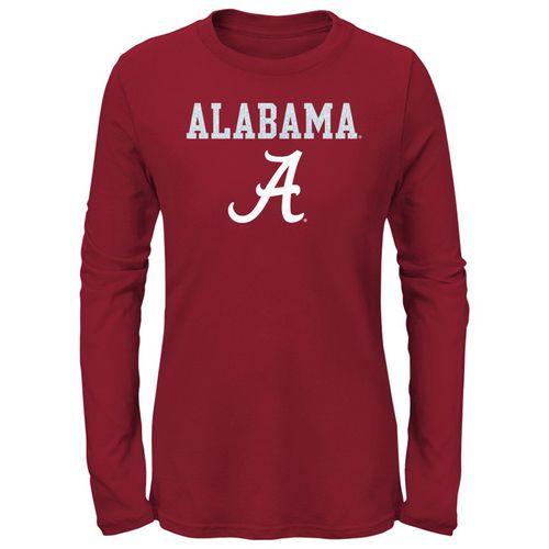 Girl's Alabama Crimson Tide Goal Line Long Sleeve Shirt (Crimson)