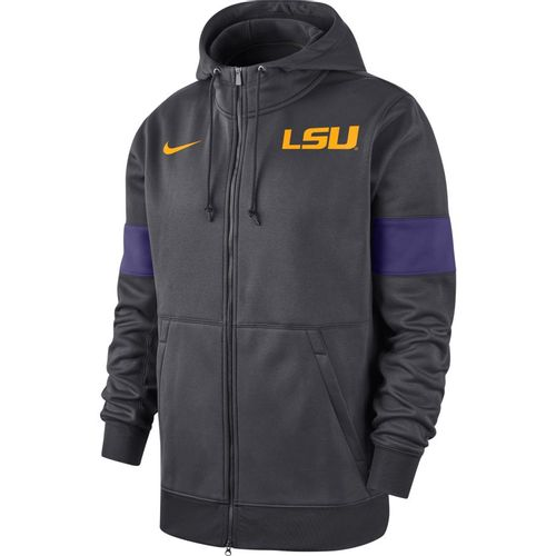 Men's Nike LSU Tigers Therma Jacket (Anthracite/Purple)