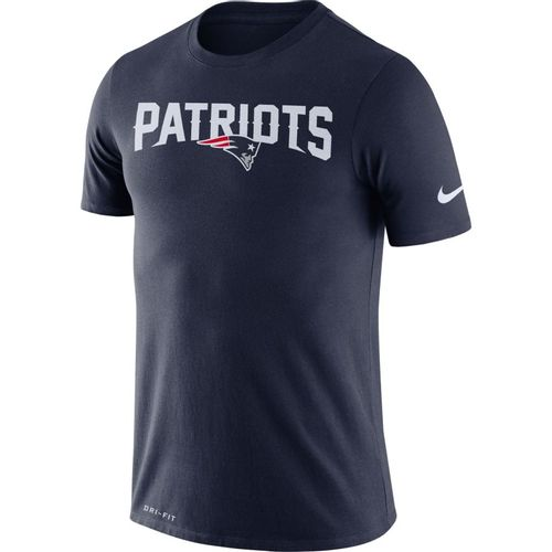 Men's Nike New England Patriots Dri-FIT Wordmark T-Shirt (Navy)