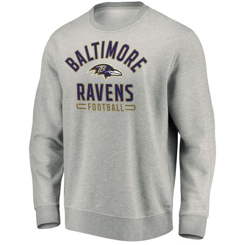 Men's Majestic Baltimore Ravens Arch Crew Fleece (Heather)