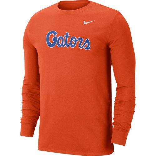 Men's Nike Florida Gators Dri-FIT Wordmark Long Sleeve Shirt (Orange)
