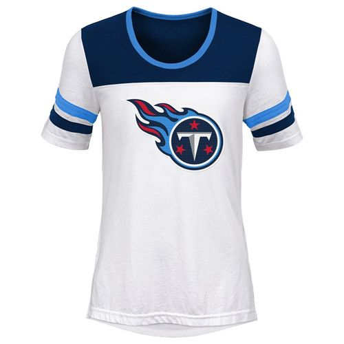 Girl's Tennessee Titans Tailback T-Shirt (White)
