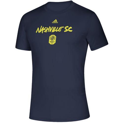 Men's Adidas Nashville Soccer Club Wordmark Goals T-Shirt (Navy)