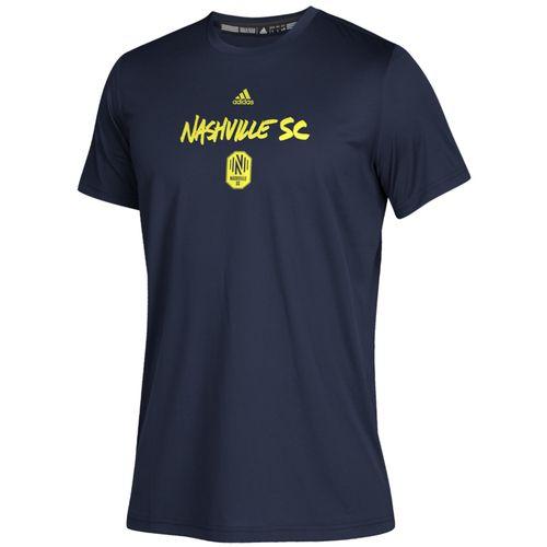 Youth Adidas Nashville Soccer Club Wordmark Goals T-Shirt (Navy)