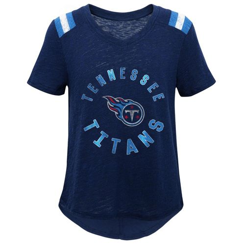 Girl's Tennessee Titans Football T-Shirt (Navy)