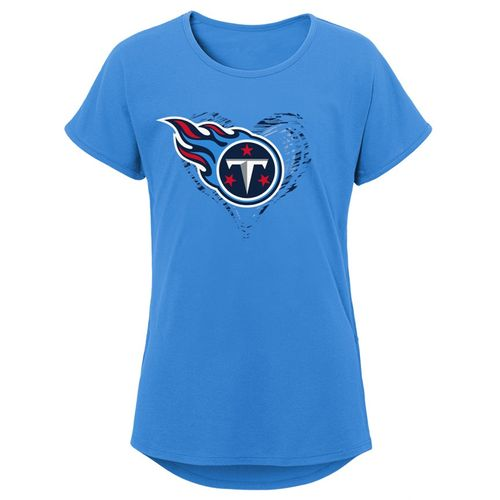 Girl's Tennessee Titans Sonic Heart T-Shirt (Light Blue)