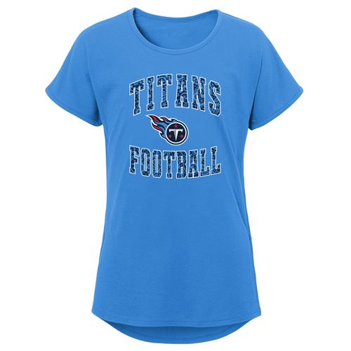 Girl's Tennessee Titans Team Lace T-Shirt (Light Blue)