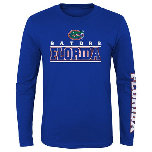 Youth Florida Gators Classic Logo Long Sleeve Shirt (Royal)