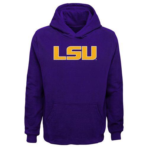 Youth LSU Tigers Fan Hooded Fleece (Purple)