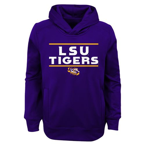 Youth LSU Tigers Primary Hooded Fleece (Purple)
