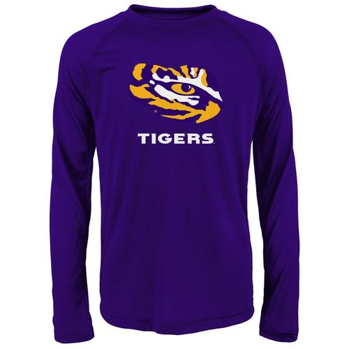 Youth LSU Tigers Primary Long Sleeve Shirt (Purple)