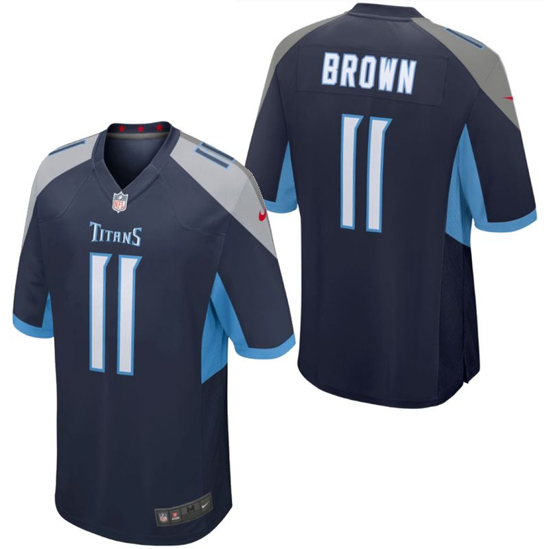 Youth Tennessee Titans A.J. Brown Game Jersey (Navy)