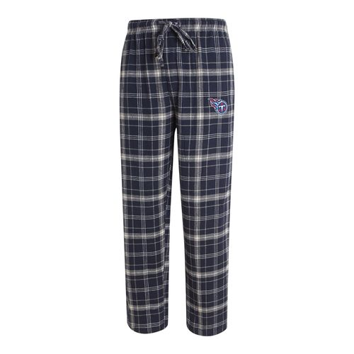 Men's Tennessee Titans Ultimate Plaid Flannel Pant (Navy/Grey)