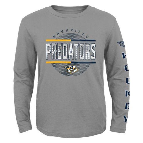 Youth Nashville Predators Evolution Long Sleeve Shirt (Heather)