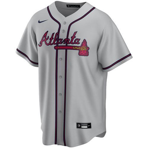Men's Nike Atlanta Braves Road Replica Jersey (Grey)