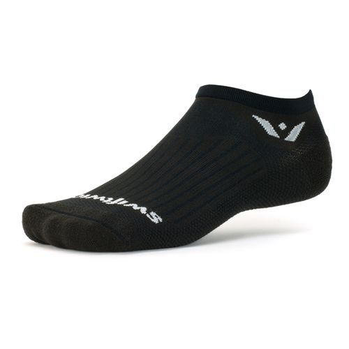 Swiftwick Aspire Zero Minimum Cushion No-Show Sock (Black)