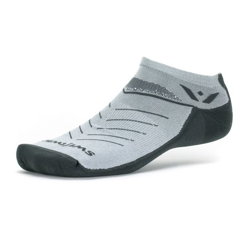 Swiftwick Vibe Zero Medium Cushion No-Show Sock (Gray)