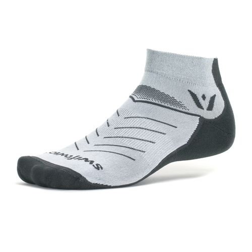 Swiftwick Vibe One Medium Cushion Ankle Sock (Gray)
