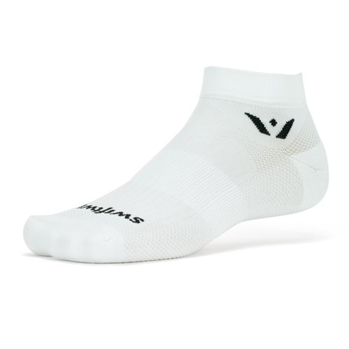 Swiftwick Aspire One Minimum Cushion Ankle Sock (White)