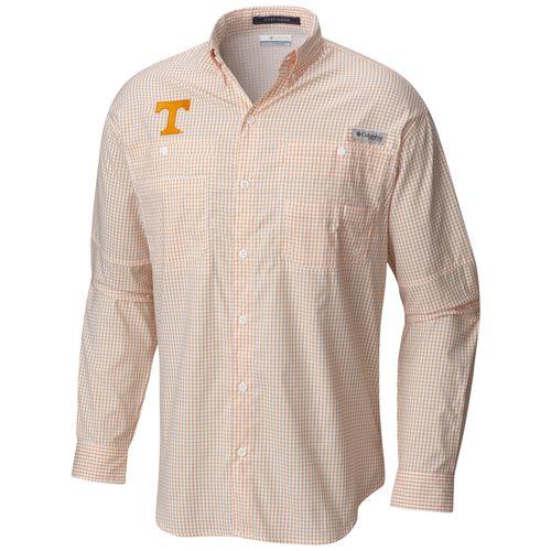 Men's Tennessee Volunteers Tamiami Long Sleeve Gingham Shirt (Orange)