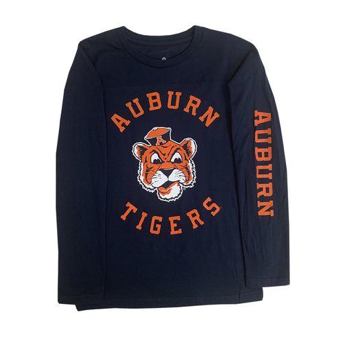 Youth Auburn Tigers Vault Circle Long Sleeve Shirt (Navy)