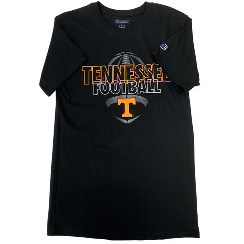 Men's Champion Tennessee Volunteers Team Issued Football T-Shirt (Black)