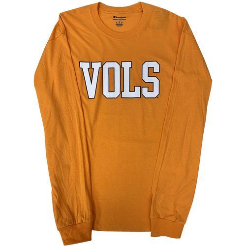 Men's Champion Tennessee Volunteers Jersey Long Sleeve Shirt (Orange)