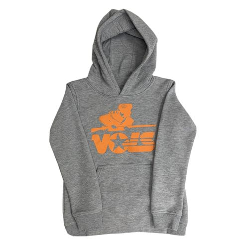 Youth Tennessee Volunteers Vault Hooded Fleece (Dark Heather Grey)