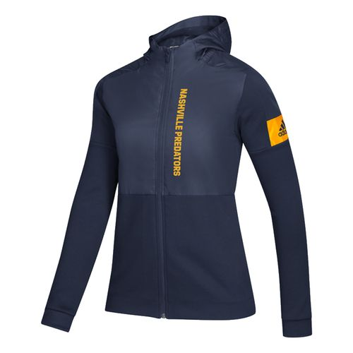 Women's Adidas Nashville Predators Game Full Zip Up (Navy)