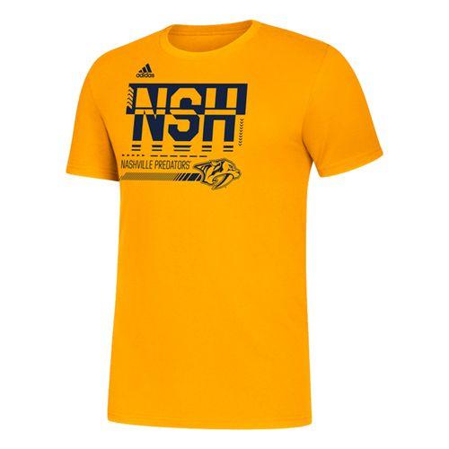 Men's Adidas Nashville Predators Hyper Initials T-Shirt (Gold)