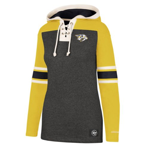 '47 Brand Women's Nashville Predators Lace-Up Hooded Fleece (Gold)