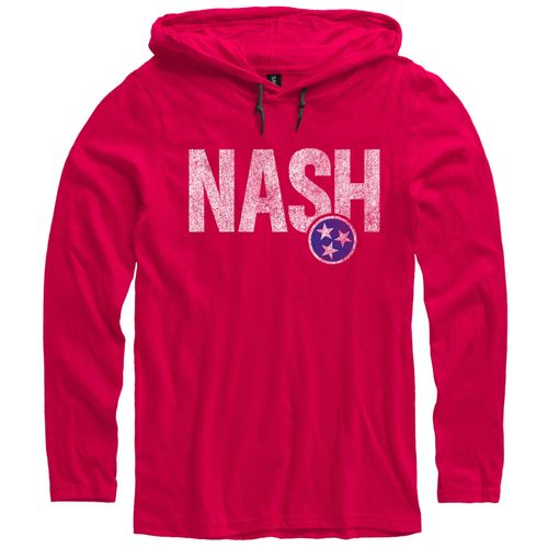 Men's Nash Tri-Effect Hooded Long Sleeve Shirt (Red/Grey)