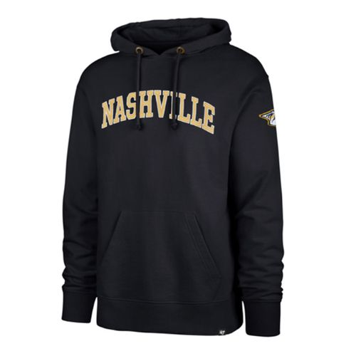 '47 Brand Men's Nashville Predators Atlas Striker Hooded Fleece (Navy)
