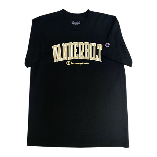 Youth Champion Vanderbilt Commodores Vertical Arch T-Shirt (Black)