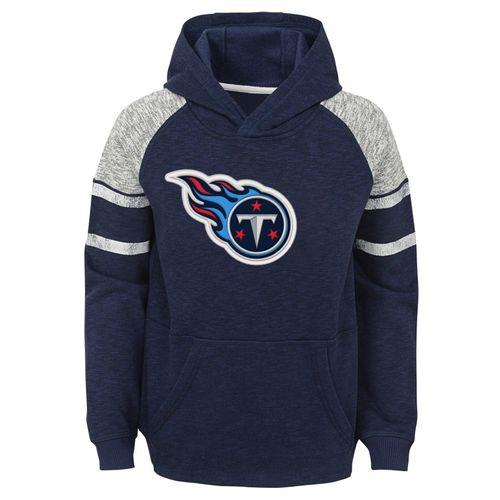 Kid's Tennessee Titans Linebacker Raglan Hooded Fleece (Navy)