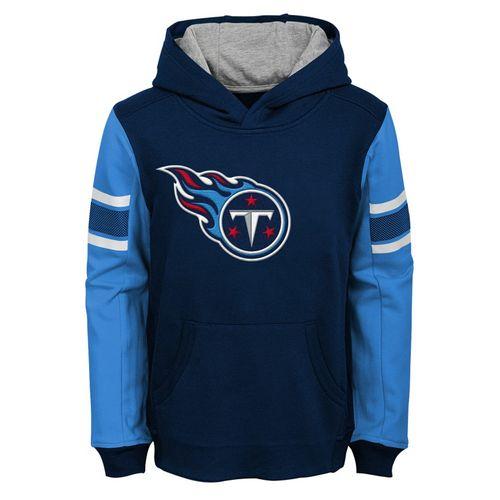 Kid's Tennessee Titans Logo Hooded Fleece (Navy)