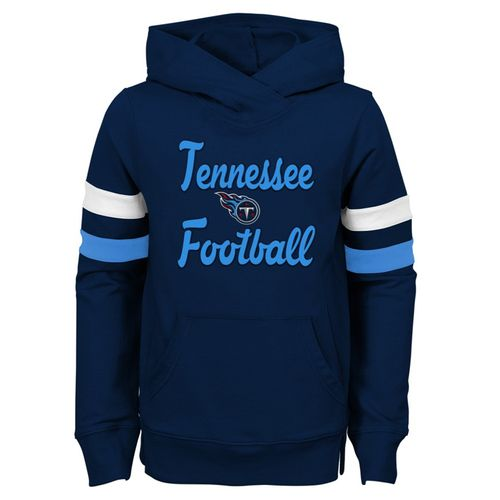 Girl's Tennessee Titans OverPlay Hooded Fleece (Navy)