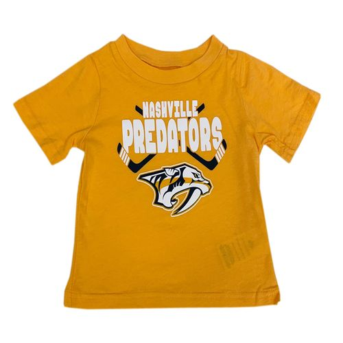 Infant Nashville Predators Crossed Front T-Shirt (Gold)