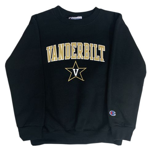 Youth Champion Vanderbilt Commodores Arch Power Crew Fleece (Black)